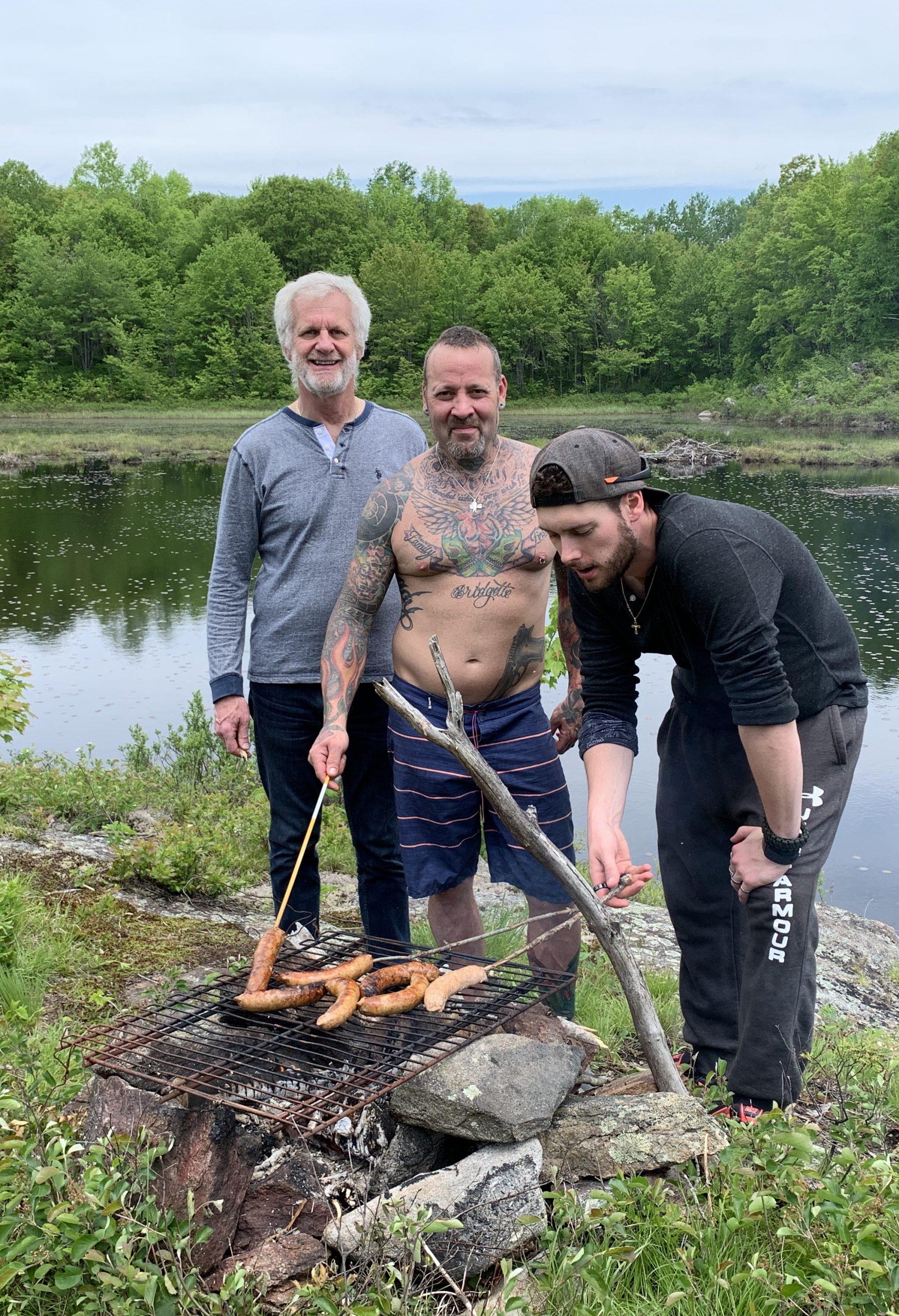 BBQing By Lake